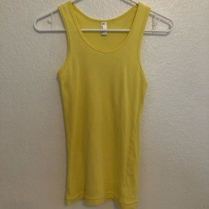 yellow fitted tank top